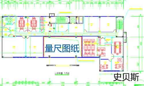 板芙镇办公玻璃隔断墙图纸(平面图)